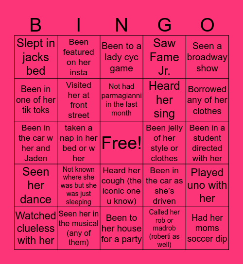 Madrob's Bingo!! Bingo Card