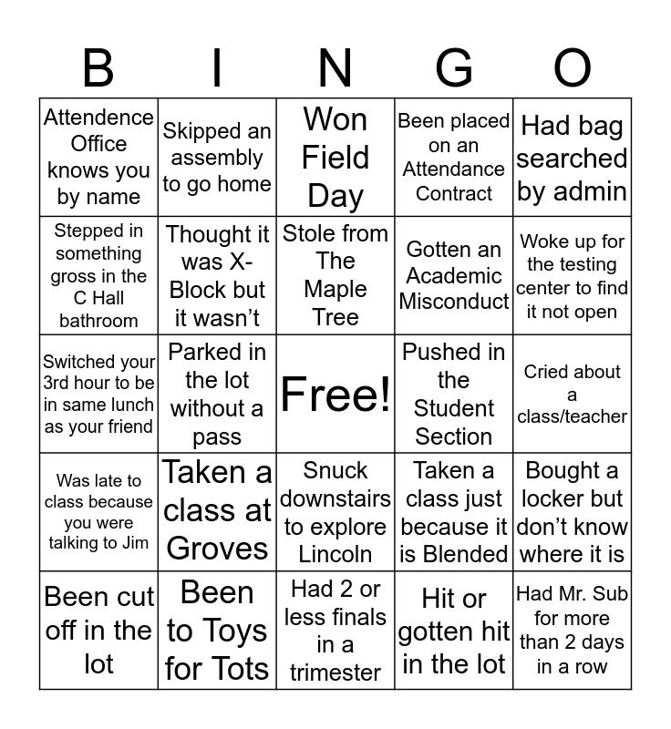 SEAHOLM Bingo Card