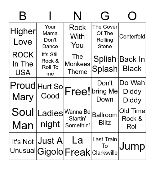 Misc Bingo 4 Bingo Card