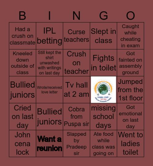 VJ 71 Bingo Card
