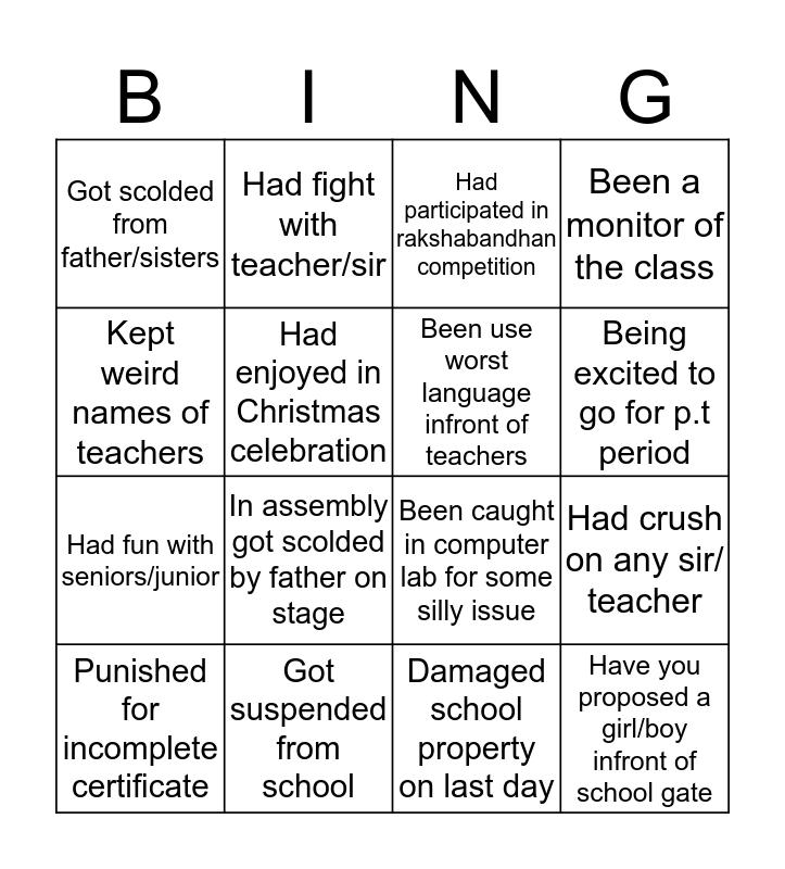 C.E.M.S Bingo Card