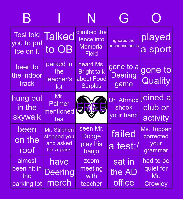 DEERING HIGH SCHOOL Bingo Card