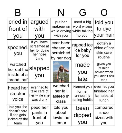 if morgan has ever... Bingo Card