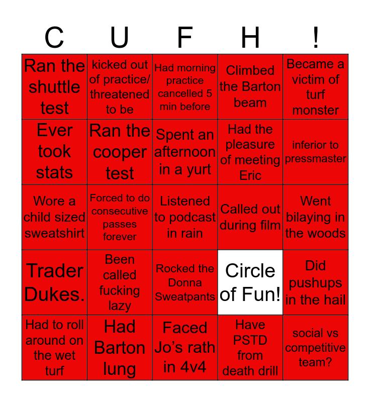 CUFH BINGO Card