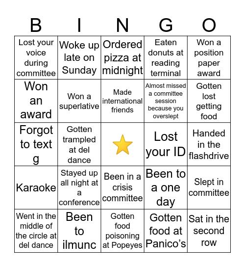 FHSMUN BINGO! Bingo Card