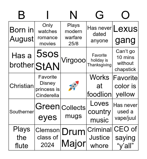 mArris! bingo Card