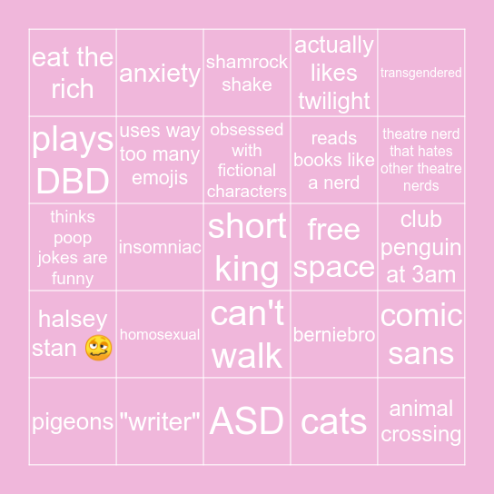 kanethy tripod bingo edition Bingo Card