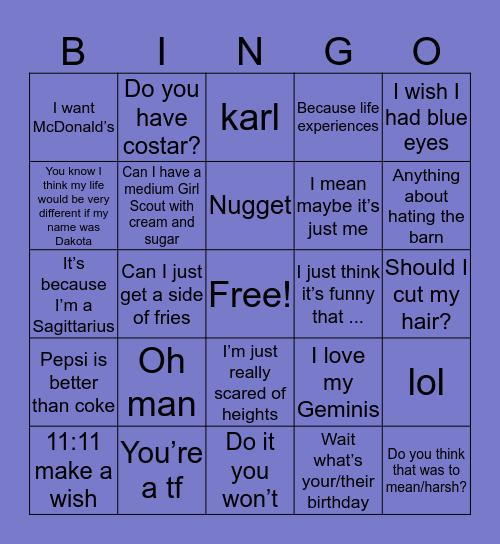 Heard Bev say ... Bingo Card