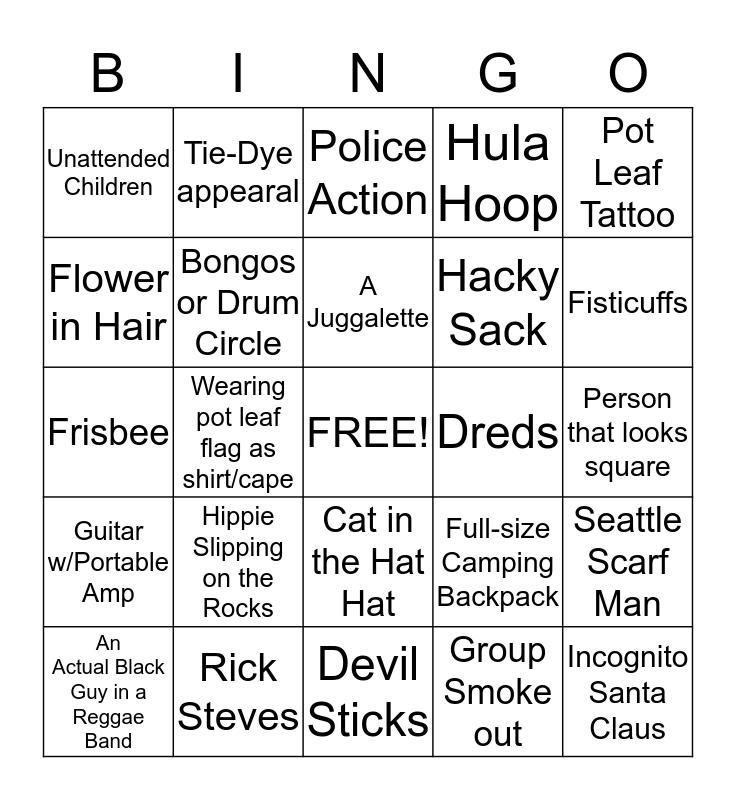 Hempfest Bingo Card