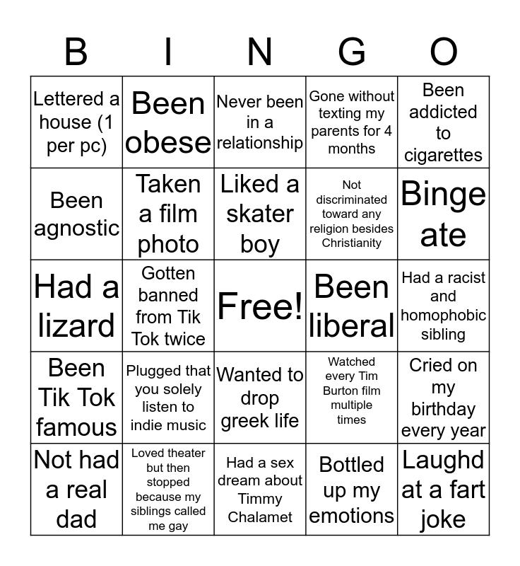 Madeline Edition Bingo Card