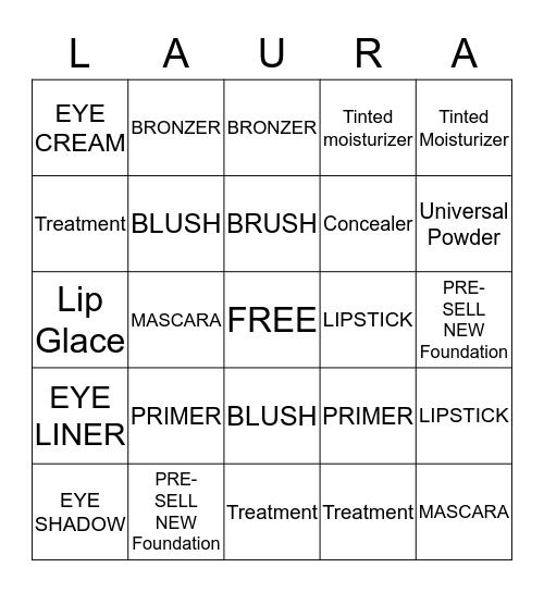 LAURA MERCIER  Bingo Card