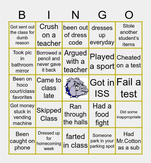 𝔽𝕣𝕒𝕟𝕜𝕝𝕚𝕟 ℂ𝕠𝕦𝕟𝕥𝕪 ℍ𝕚𝕘𝕙 𝕊𝕔𝕙𝕠𝕠𝕝 Bingo Card