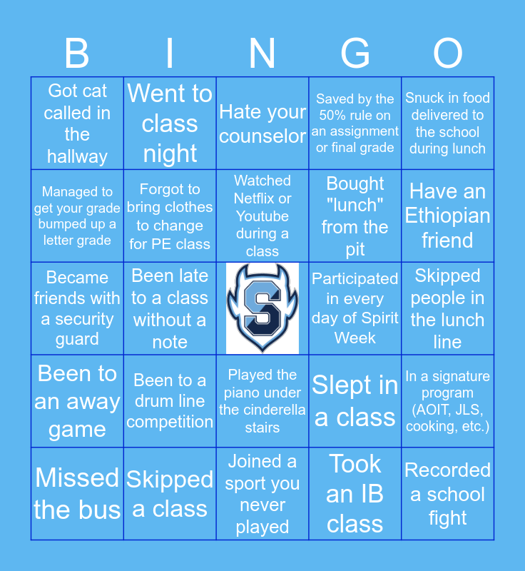 SPRINGBROOK HS Bingo Card