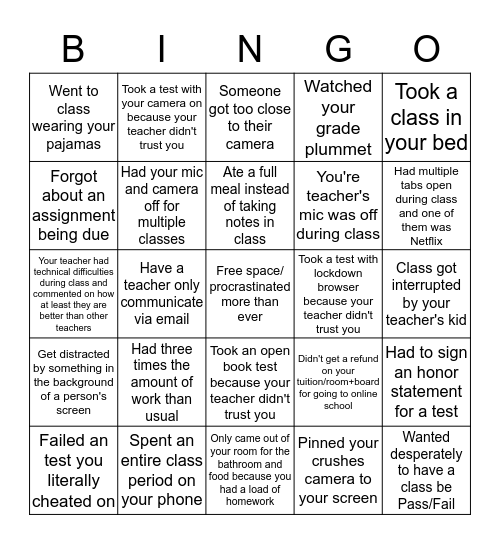 Online Bingo For Zoom