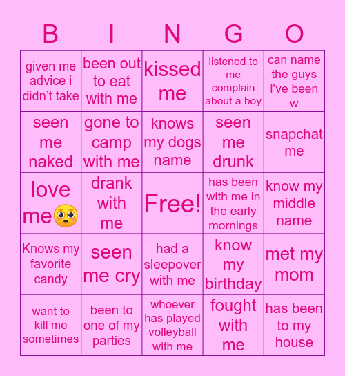 M A R I A S Bingo Card