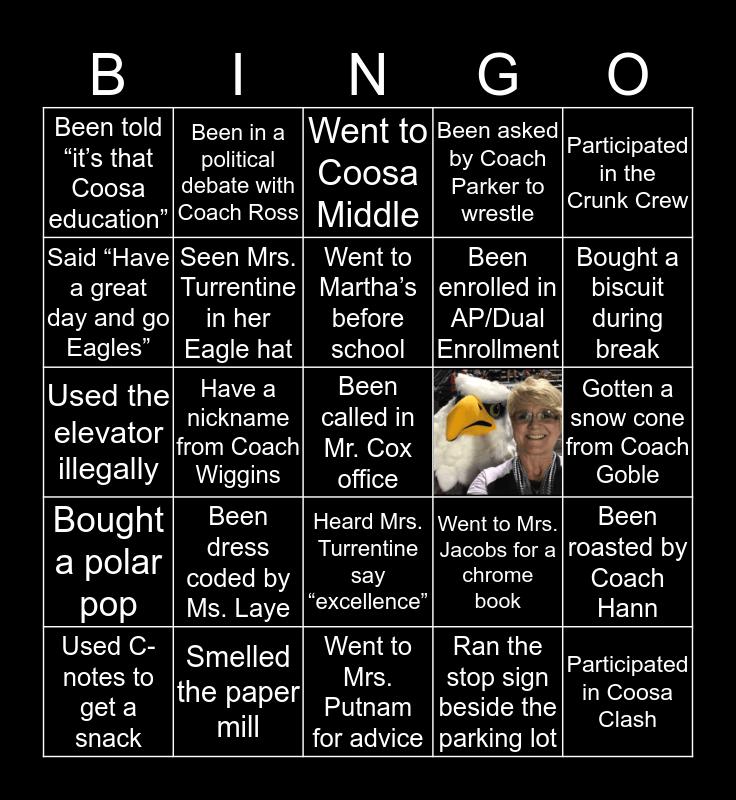 COOSA HIGH Bingo Card