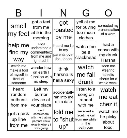 Harsh Truth Bingo Card