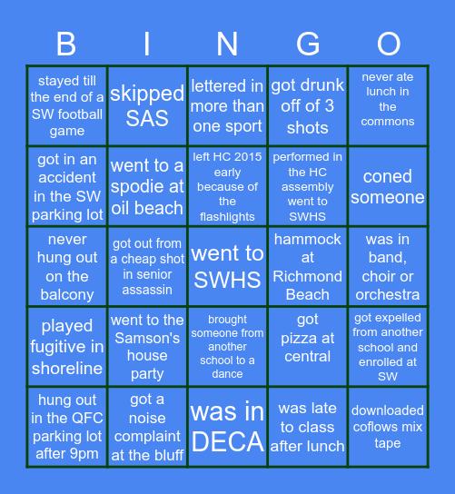 Shorewood Bingo Card