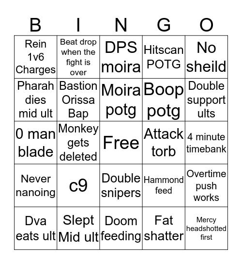 Quickplay Bingo Card