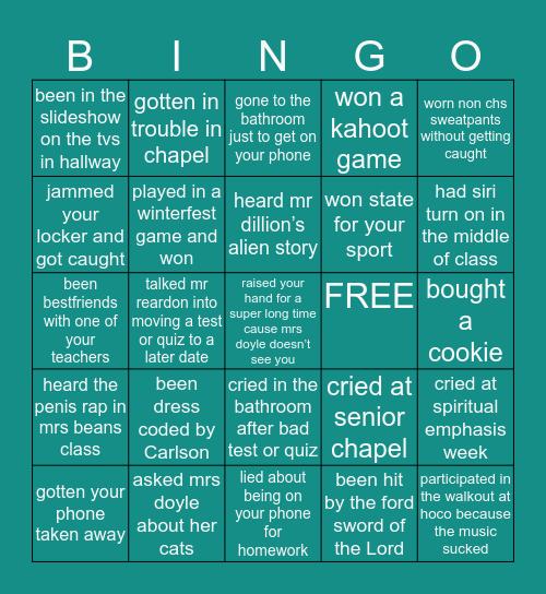 🦅CHS BINGO 🦅 Bingo Card
