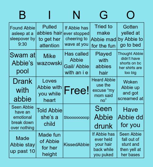 Abbie Bingo Card