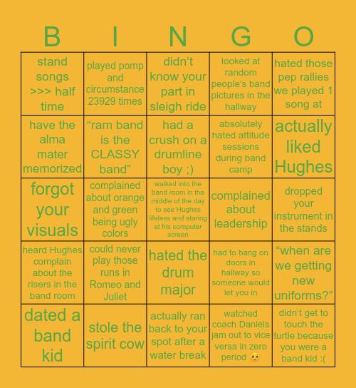 ram band 🤩 Bingo Card