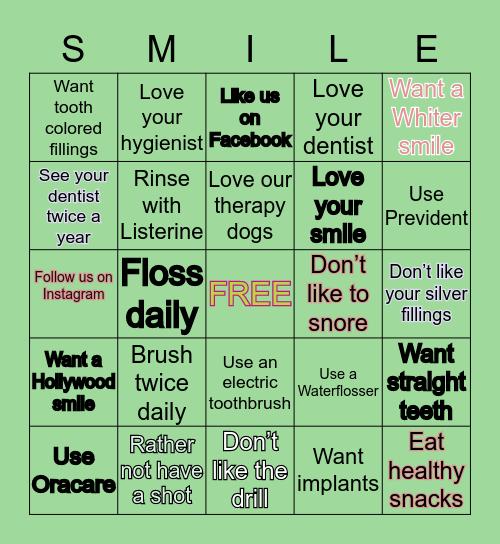 Ligocki Dental Group Bingo Card