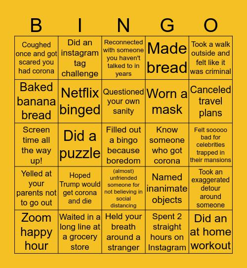 CORONA Bingo Card