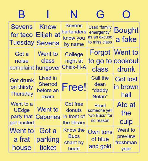 ETSU Bingo Card
