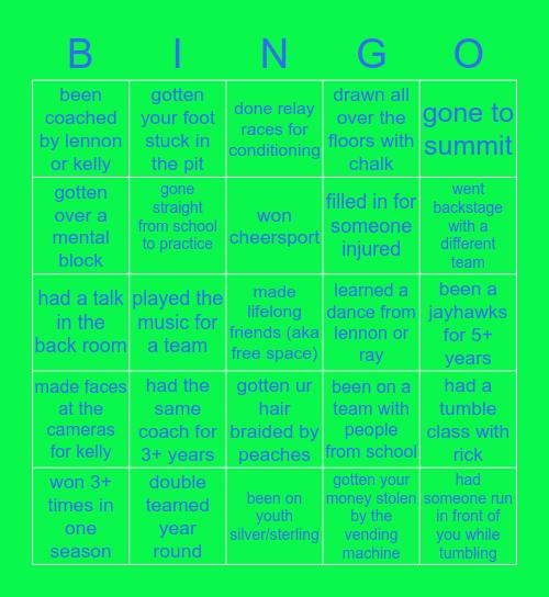 Atlanta Jayhawks Bingo Card