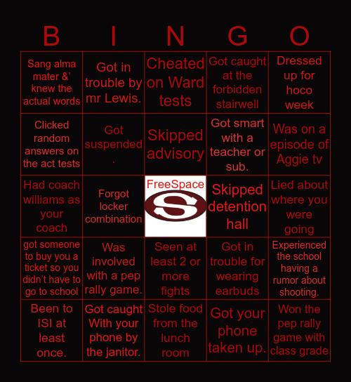 SHS BINGO GAME❤️🖤 Bingo Card