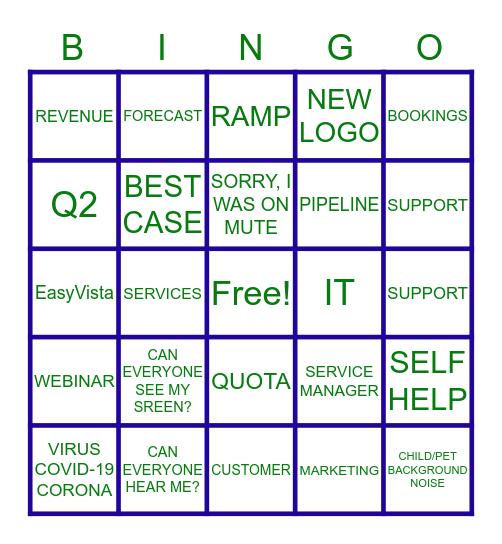 EasyVista QBR 2020 Bingo Card