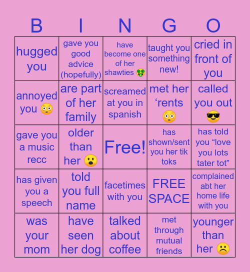 lay lay's bingo! Bingo Card