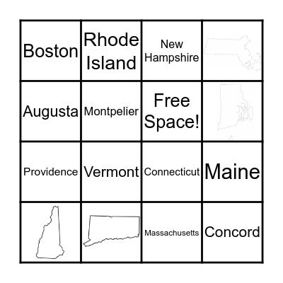 New England States Bingo Card