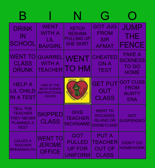 ABRAM ZUIL SECONDARY Bingo Card