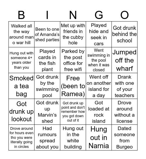 Ramea Bingo Card