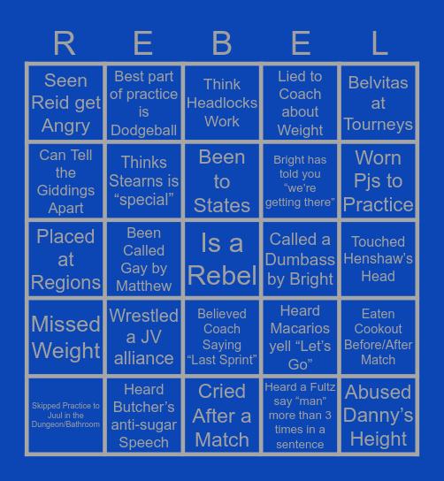 Freeman Wrestling Bingo Card