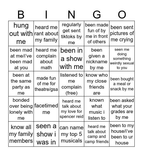 julia bingo pt 3 Bingo Card