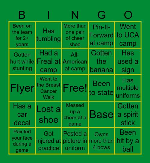 PIUS X CHEER Bingo Card