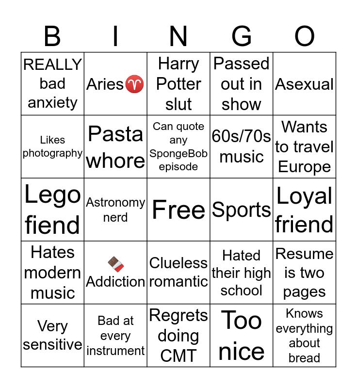 Marcus Gaye Bingo Card