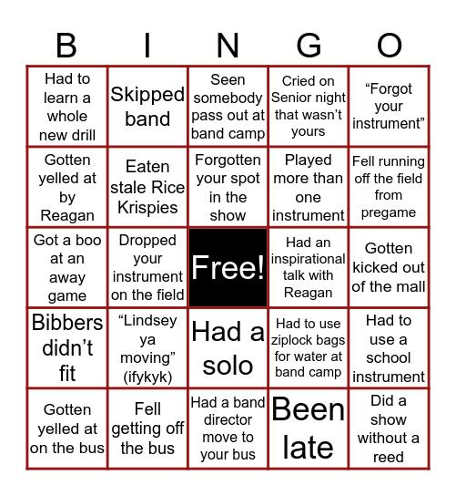 GCHS Titan Band Bingo Card