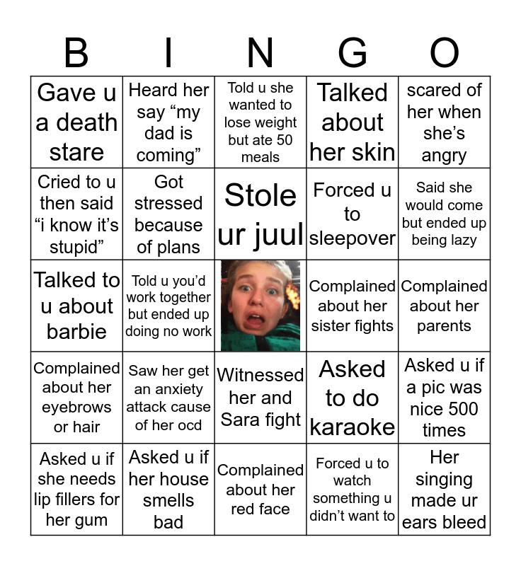 NOOR'S Bingo Card