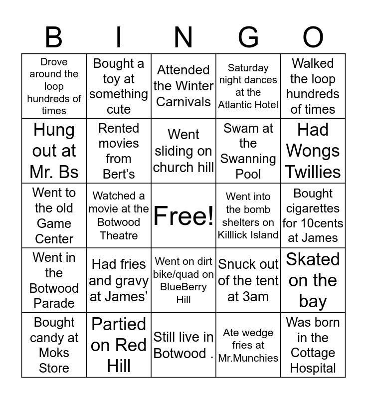 Botwood Bingo Card