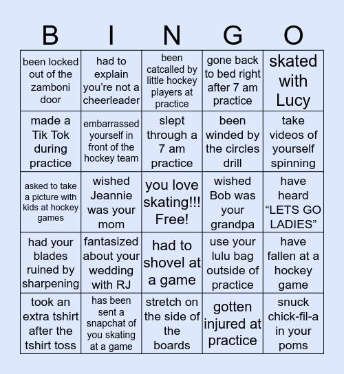 ⛸PCFSC BINGO⛸ Bingo Card