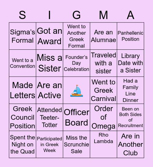 FSU 🔰 TRI 💜 Bingo Card