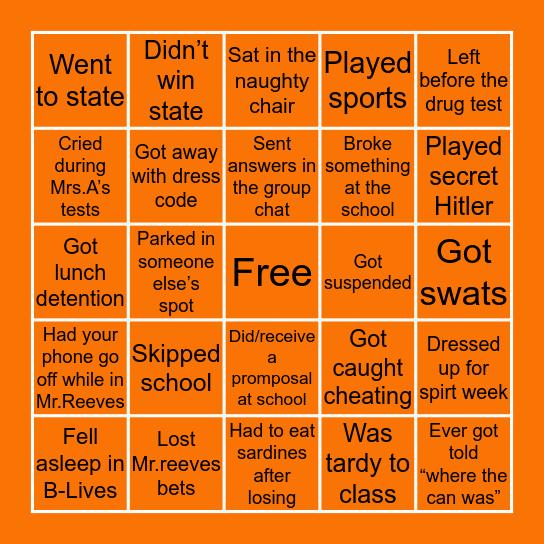 Mangum Bingo Card