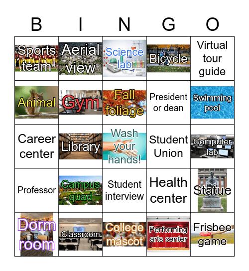 CollegeXpress Virtual Campus Visit Bingo Card