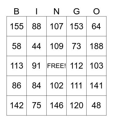 Back To School Addition  Bingo Card
