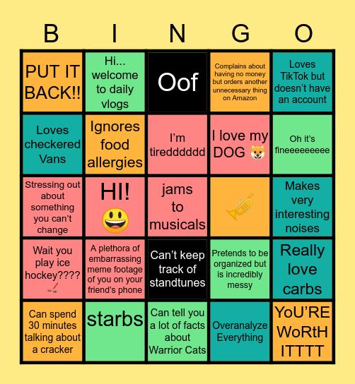 Riley 🐍🐌🦇🐈🍊 Bingo Card