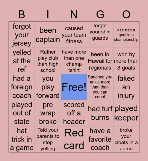 ⚽️SOCCER⚽️ Bingo Card